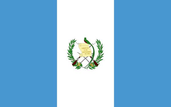 La bandera actual de Guatemala