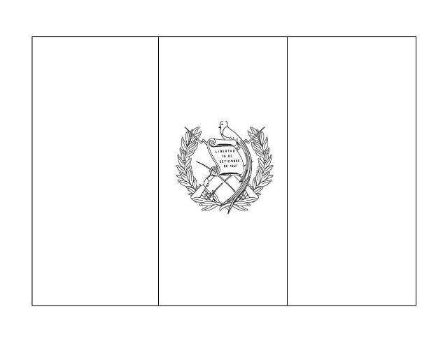 Bandera de Guatemala para colorear