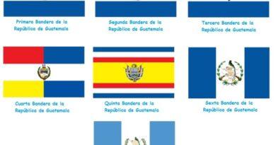 ¿Cuántas banderas ha tenido Guatemala?