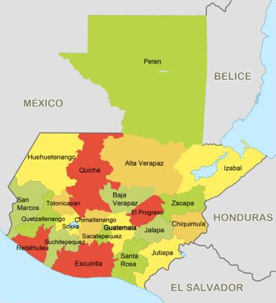 Cuántos departamentos tiene Guatemala