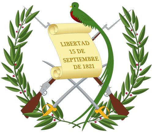 Escudo de la bandera de Guatemala