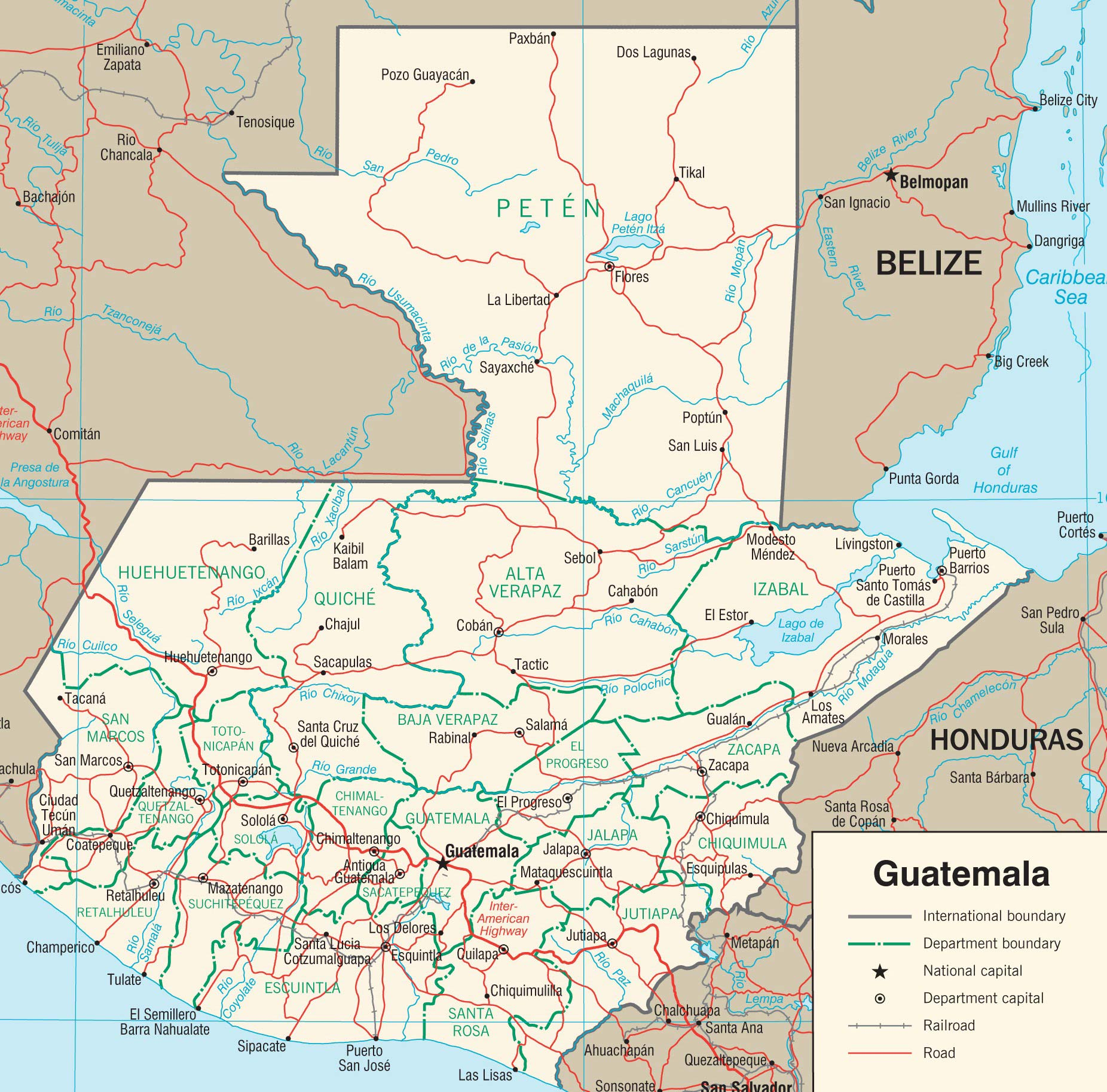 Carreteras importantes de Guatemala