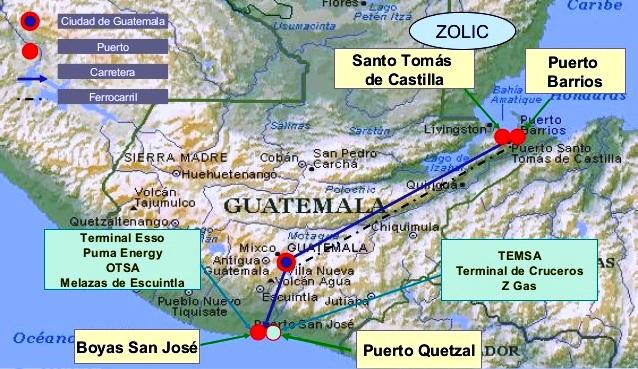 Puertos de Guatemala