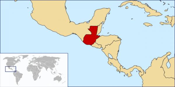 Ubicación geográfica de Guatemala