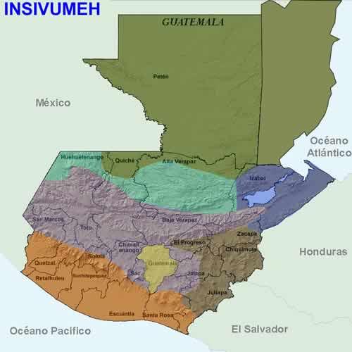 Zonas climáticas de Guatemala